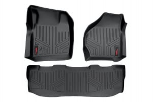 Heavy Duty Fitted Floor Mat Set (Front/Rear) for 2017 Ford F-250/350/450/550 Super Duty Pickup (Crew Cab)