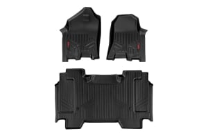 Heavy Duty Fitted Floor Mat Set (Front/Rear) for 2019 Dodge Ram 1500 Pickups