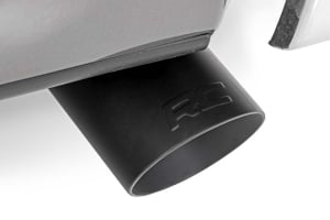 Flat Black Exhaust Tip w/ RC Logo (For vehicles w/ 2.5in - 3in Inlets)