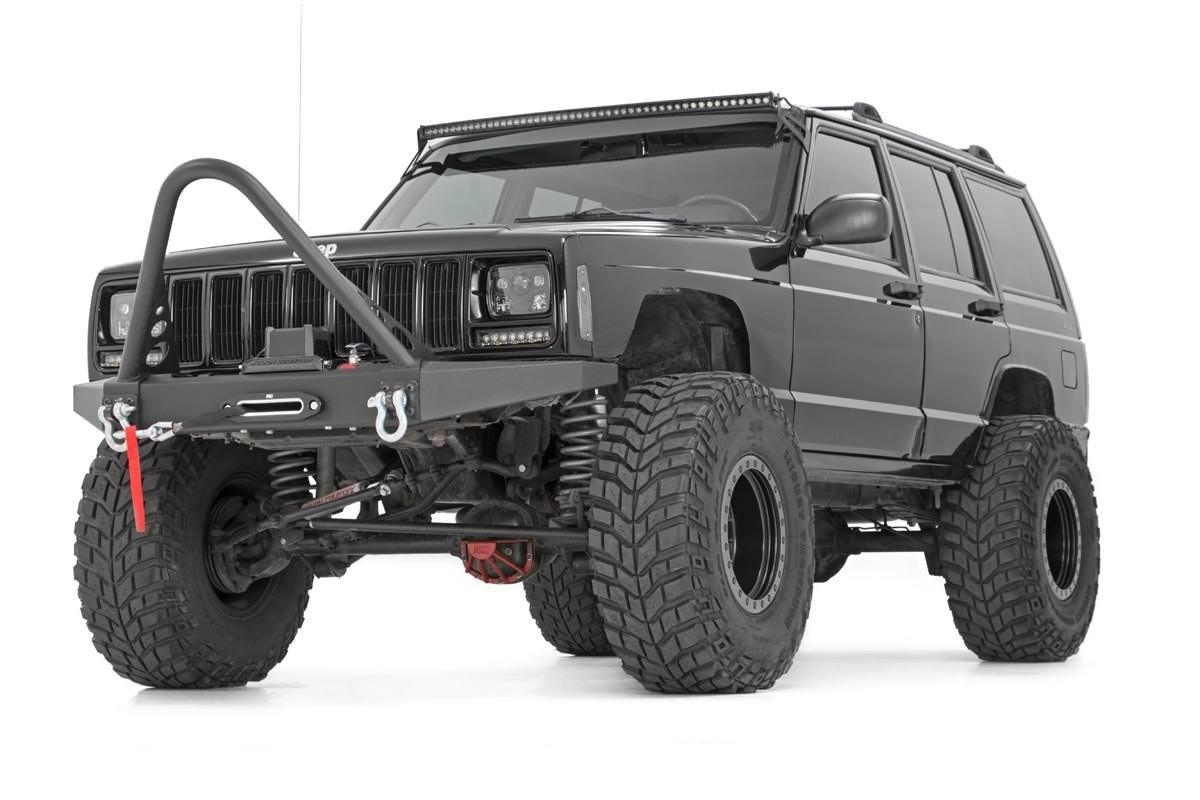 Jeep Cherokee Xj Bumpers >> Front Winch Bumper For 84 01 Jeep Xj Cherokee 10570 Rough