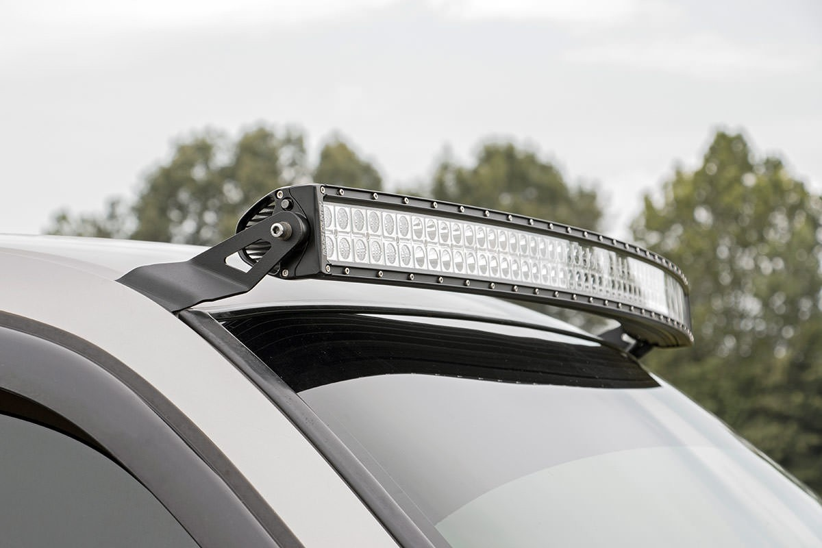 54in Curved Led Light Bar Upper Windshield Mounting