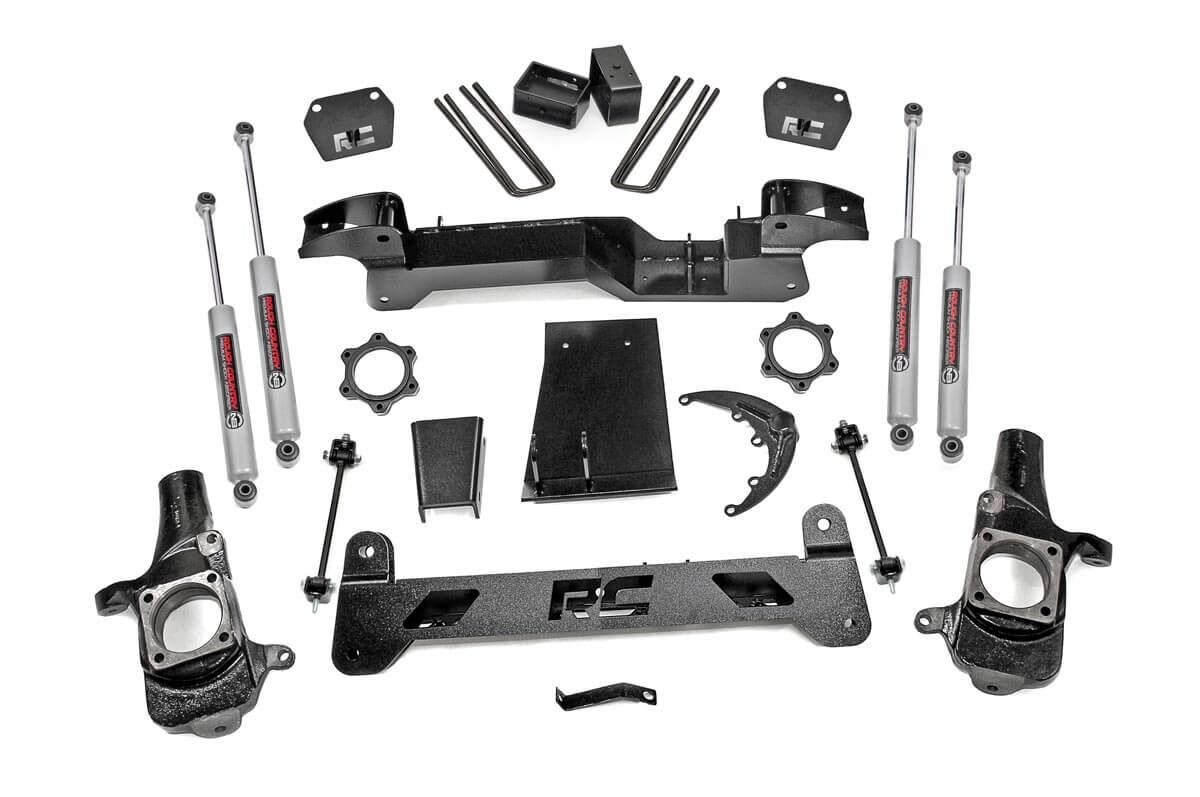 6 Inch Lift Kit For Chevy Silverado 1500 >> 6in Suspension Lift Kit for 01-06 Chevy / GMC 4wd 1500 HD ...