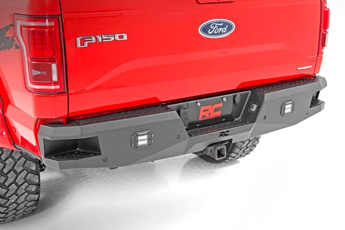 Heavy-Duty Rear LED Bumper for 15-18 Ford F-150 [10771] | Rough Country  Suspension Systems®