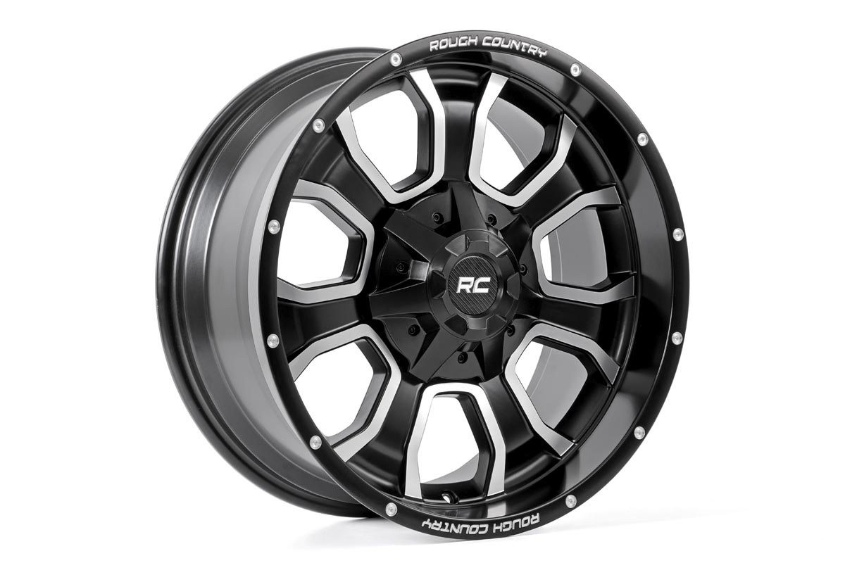 Rough Country One-Piece Series 93 Wheel, 20x10 (5x5)