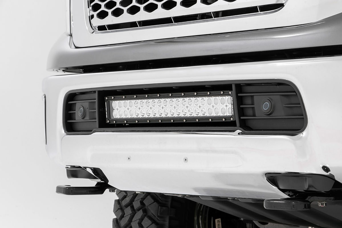 20 Inch Dual Row Cree Led Bumper Kit For 16 17 Nissan Titan Xd Wiring Light Bar 20in Chrome Series