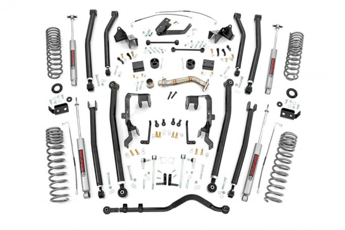 4in Long Arm Suspension Lift Kit for 2008-2018 Jeep JK Wrangler Unlimited