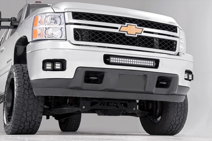 light mounts brackets lighting & accessories rough country  chevrolet led fog light kit (11 14 silverado hd)