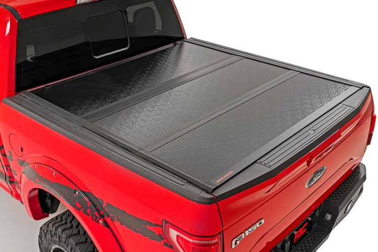 Ford Low Profile Hard Tri Fold Tonneau Cover 17 20 Super Duty 6 5 Bed Rough Country