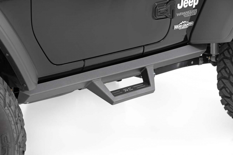 Rough Country Black Performance Exhaust for 18-20 Jeep JL w//Black RC Tips 96003