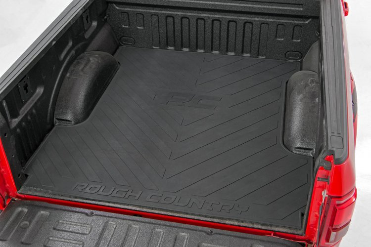 Truck Bed Mat W Rough Country Logo For 2017 2019 Ford F 250 350 Super Duty Pickups Rough Country