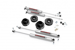 2in suspension lift kit for 99 04 jeep wj grand cherokee 695 695n2 rough country 2in jeep suspension lift kit