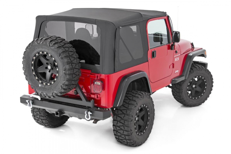 Jeep Wrangler Soft Top >> Jeep Wrangler Tj Replacement Soft Top 97 06 Full Steel Doors