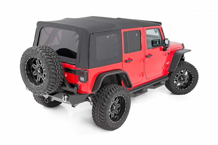 Jeep Wrangler Soft Top >> Rough Country Replacement Soft Top For 2010 2018 Jeep Wrangler Jk